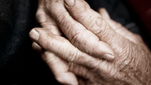 Elderly Man's Hands.