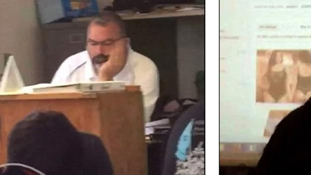 Teacher Suffers Embarrassment, Doesn't Know It (Video) Promo Image