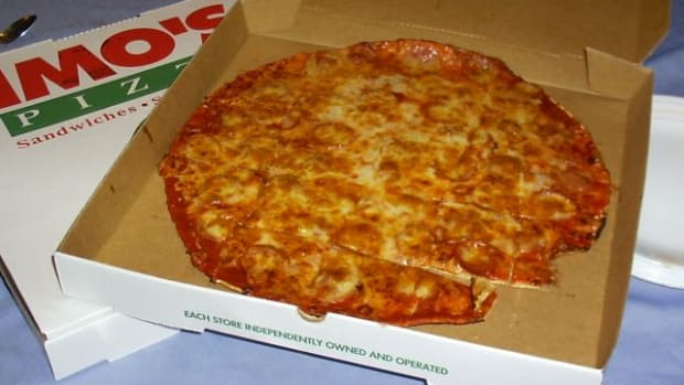 Pizza In A Carry-Out Box