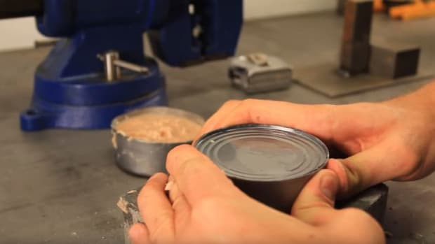 Opening A Can With Bare Hands.