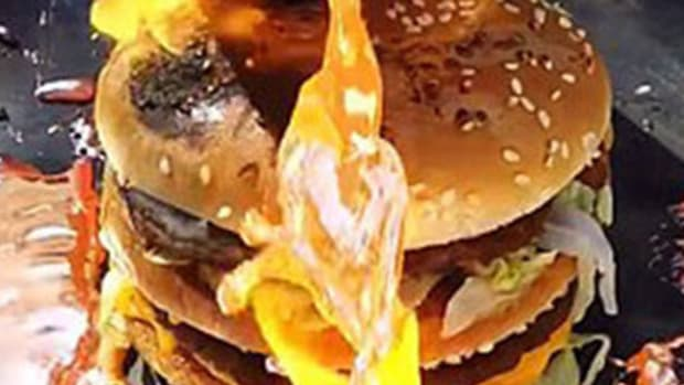 Experiment: Pour Molten Copper Over A Big Mac (Video) Promo Image