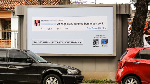 A billboard from Virtual Racism, Real Consequences