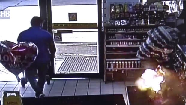 E-Cigarette Explodes In Man's Pocket At Kentucky Gas Station (Video) Promo Image