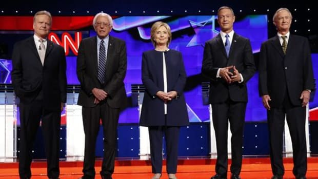 democratic presidential candidates pose prior to first debate