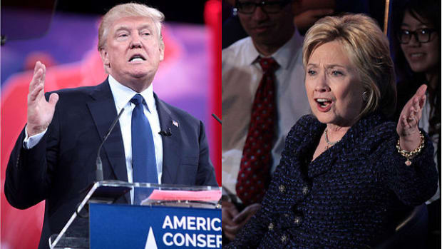 Clinton Looking Forward To Showdown With Trump Promo Image
