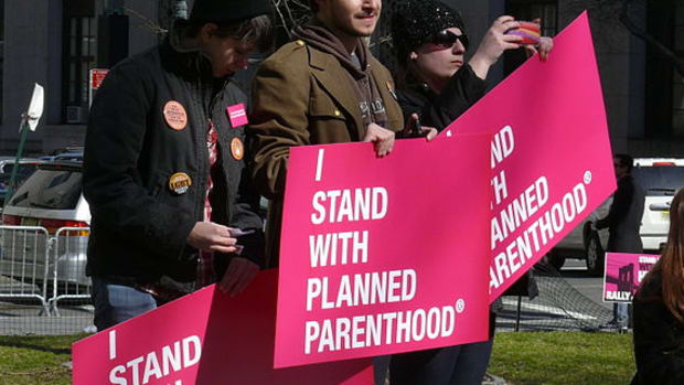 Planned Parenthood Demonstration.