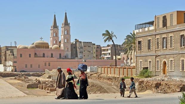 A street scene in Luxor, Egypt.