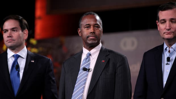 Ben Carson With Marco Rubio and Ted Cruz