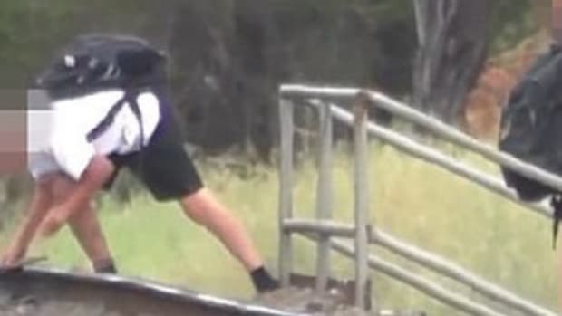 Man Catches Two Kids Attempting To Derail Train (Video) Promo Image