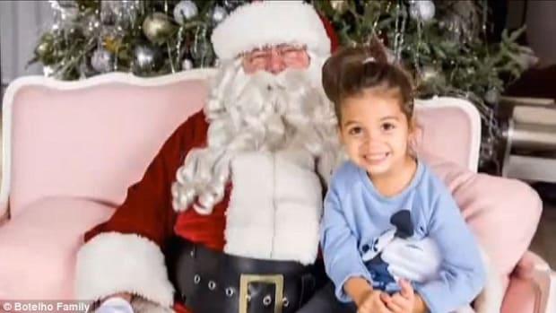 Gemma Botelho with Santa Claus