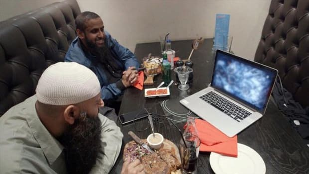 ISIS Henchmen Watching A Beheading Video