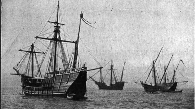 Replicas of the Nina, Pinta and Santa Maria.