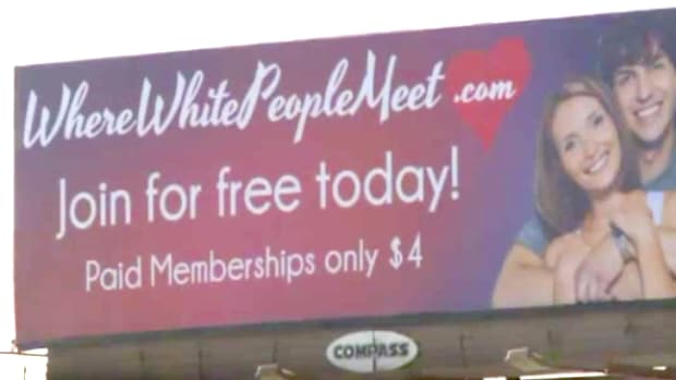 White Dating Site Billboard