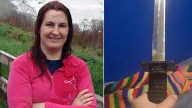 Left: Karen Dolley, Right: Dolley's sword