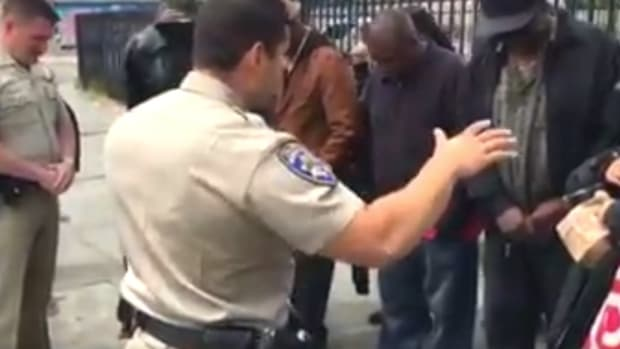 Outrage: California Cops Pray With Homeless (Video) Promo Image