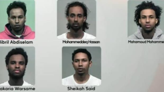 mugshots of the five suspects
