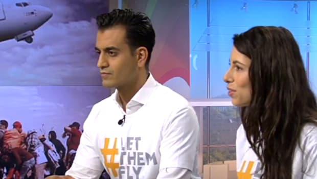 Refugee Air cofounders Emad Zand and Susanne Najafi