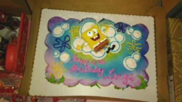 Lamiya Tucker's Birthday Cake, With Misspelling
