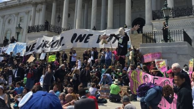 Hundreds Arrested Protesting Congress On Capitol Hill Promo Image