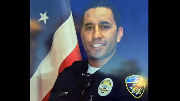 Officer Ricardo Galvez, 29, was killed on Nov. 18 in the parking lot of the Downey Police Department.
