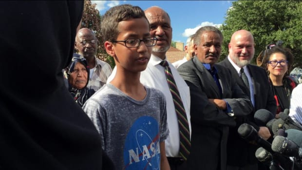 Ahmed Mohamed with family