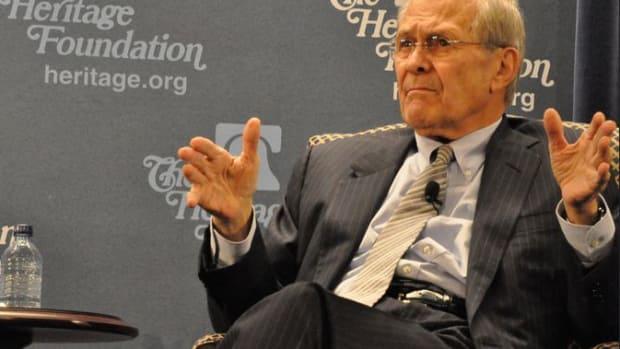 Donald Rumsfeld.