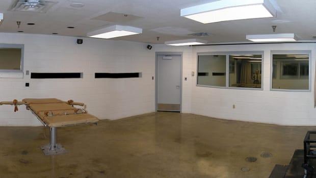Firing Squad Execution Chamber At Utah State Prison