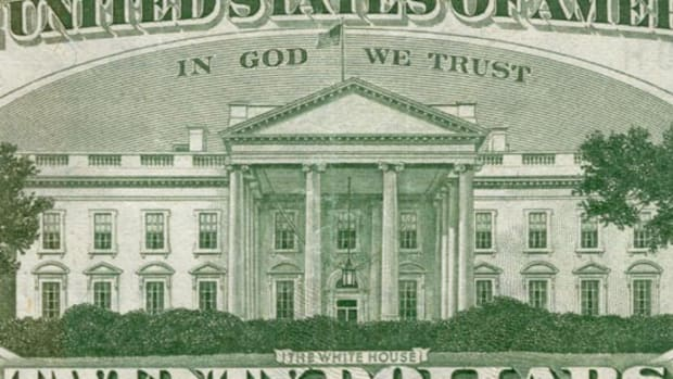 """U.S. currency featuring the national motto, """"In God We Trust."""""""
