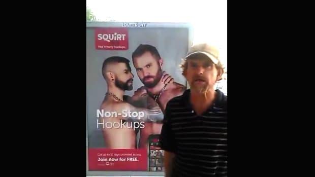 Man Destroys Gay Hook Up Ad