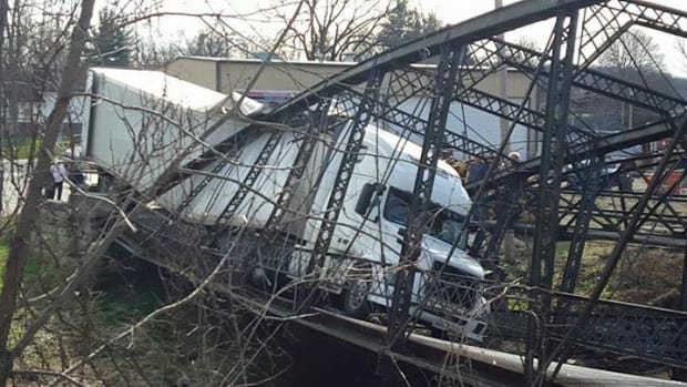A Semitrailer Causing A Bridge Collapse.