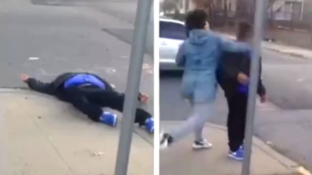 Teen Knocks Down Old Man in New Jersey.