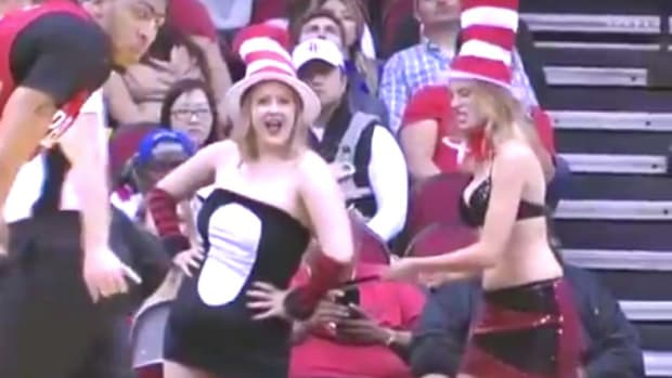 Rockets Fans Try To Distract Pelicans Players (Video) Promo Image