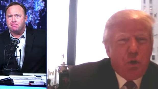 Trump's Link To Conspiracy Theorist Alex Jones (Video) Promo Image