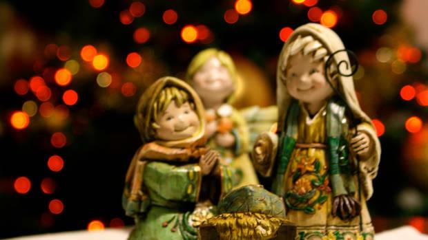 small nativity scene (stock photo)