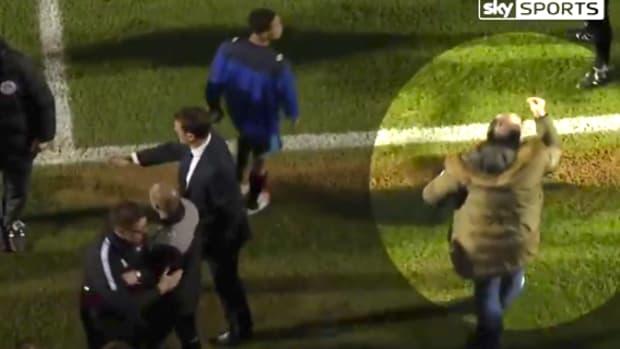 Leyton Orient President Kicks Assistant Manager.