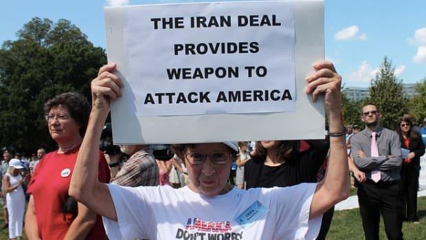 Tea Party Iran Deal Protester