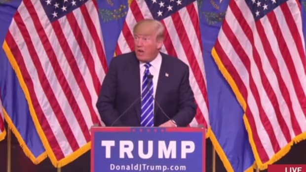 Donald Trump at a rally in Las Vegas