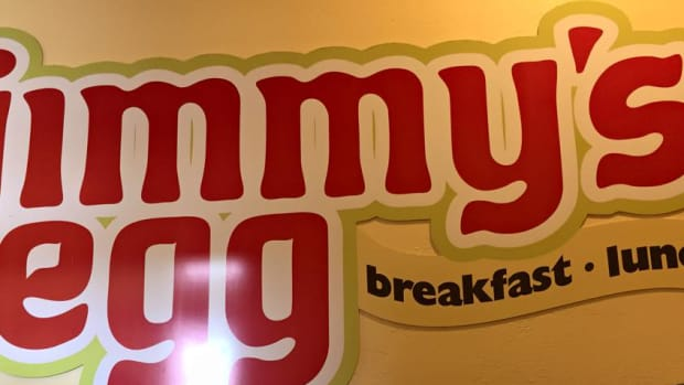 Jimmy's Egg Sign.
