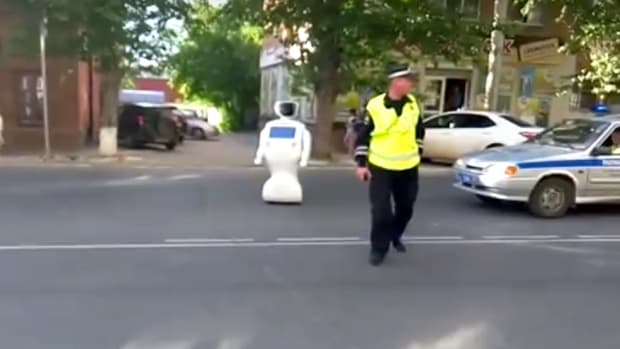 Runaway Robot Blocks Traffic, May Get Turned Off (Video) Promo Image