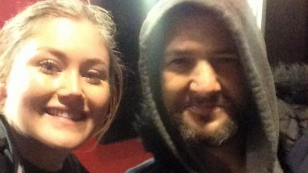 Homeless Man Helps Stranded Woman In London Promo Image