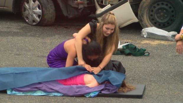 High School Puts On Mock Car Crash To Prevent DUIs Promo Image