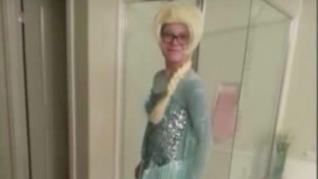 Austin Lacey dressed as Elsa