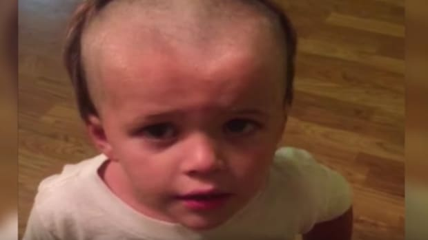 Boy's Self-Inflicted Haircut Goes Viral (Video) Promo Image