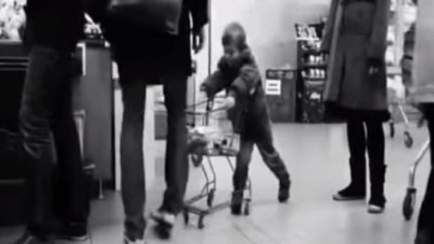 Watch: Man's Response When Young Boy Keeps Hitting His Leg With A Cart Promo Image