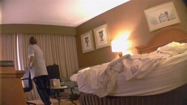 Couple Discovers Something Shocking In Hotel Bed  Promo Image