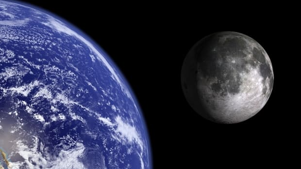 Earth and the moon