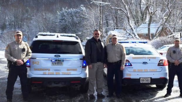 Tazewell patrol cars with new 'In God We Trust' decals on the back