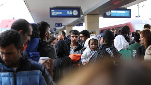 Displaced Syrian Refugees.
