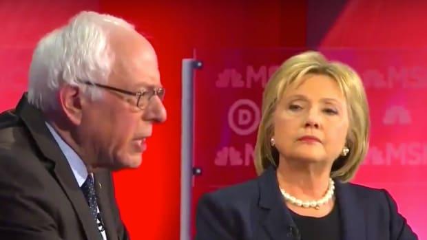 Sen. Bernie Sanders and Hillary Clinton