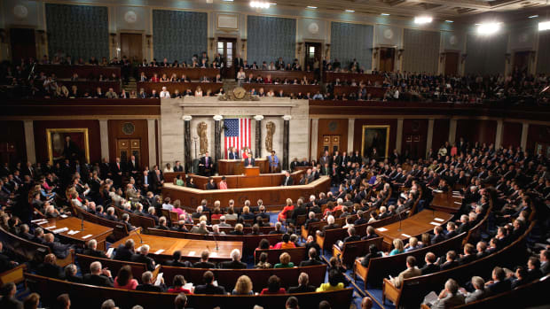 President Barack Obama speaks to a joint session of Congress regarding health care reform